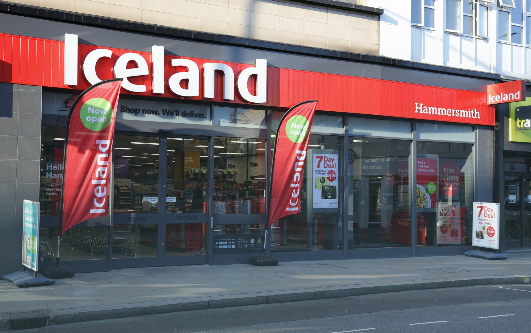 Iceland, storefront, retailer, Bink merchant